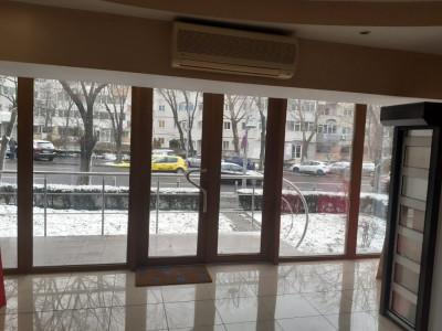 Dacia - stradal bd. Tomis, spatiu 75 mp. , trafic intens, vitrina 7 m.