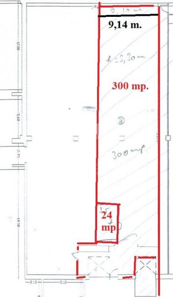 Eurohala 320 mp., 2 rampe (fixa+mobila), conditii deosebite