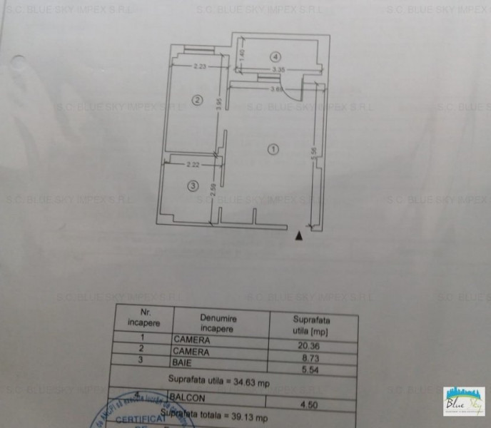 Eforie Nord - Steaua de Mare, garsoniera 40 mp., etaj 1, mobilata