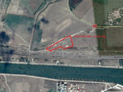 Medgidia, teren INTRAVILAN industrial, 22.850 mp.