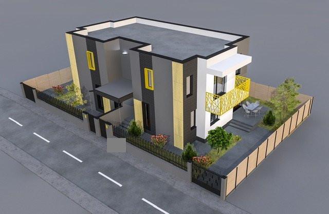 Agigea - Centru,  duplex P+1 stil mediteranean, 4 camere